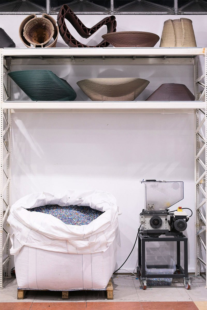 「零廢物實驗室」配備的塑料回收設施。(Stefanos Tsakiris/The New Raw提供)