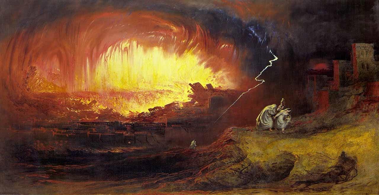 圖5:[英] John Martin,所多瑪與蛾摩拉的毀滅(1852年)。(公有領域)
