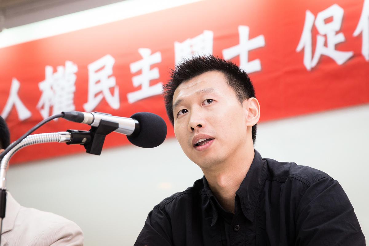 中國異見人士、世界青年自由聯盟主席王中義表示,稱中共明年攻台的說法其實並不正確。(陳柏州/大紀元)