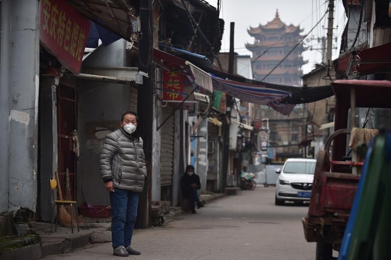 2月27日,湖北武漢城裏空蕩蕩。(STR/AFP via Getty Images)