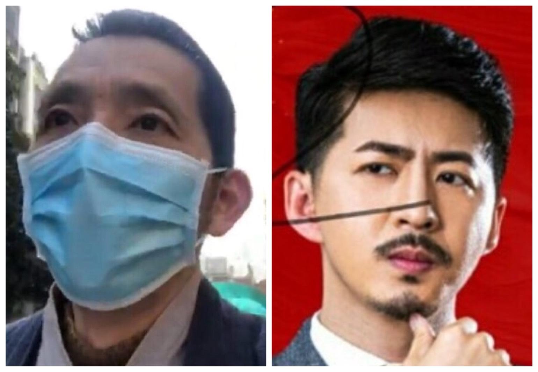 公民記者方斌(左)、陳秋實(右)因報道武漢疫情被中共當局帶走,傳聞將被判刑。(大紀元合成圖)
