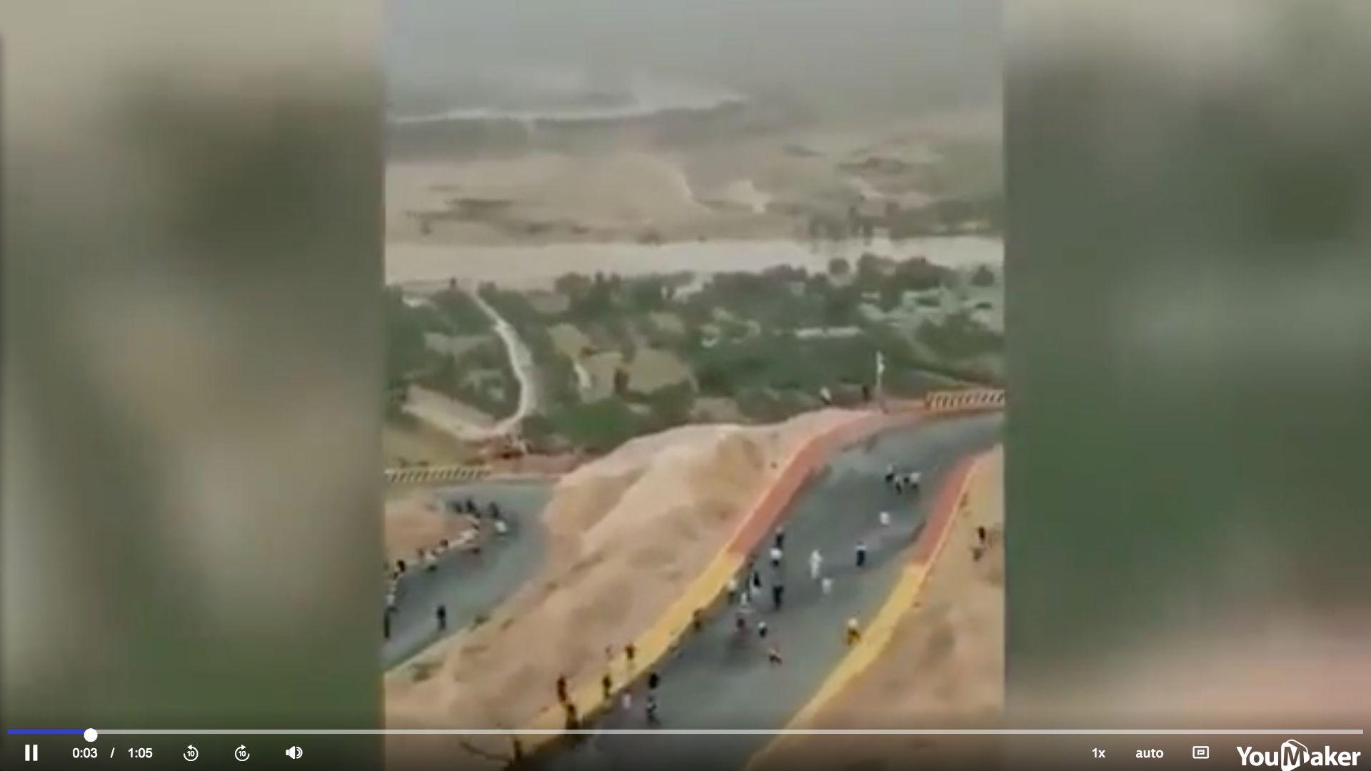 2021年5月22日,甘肅省白銀市山地馬拉松遇極端天氣,主辦方未就惡劣天氣做出預警,同時救援不力,導致21人遇難。(影片截圖)