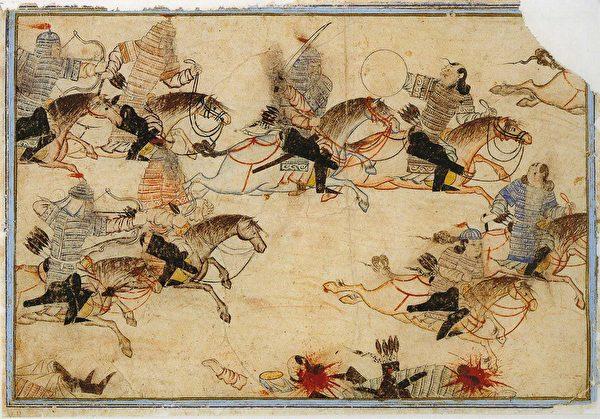 蒙古大軍戰爭場面(公有領域)