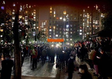 湖北孝感應城海山業主集體抗議高價菜,要求負責人下課。(網路圖)