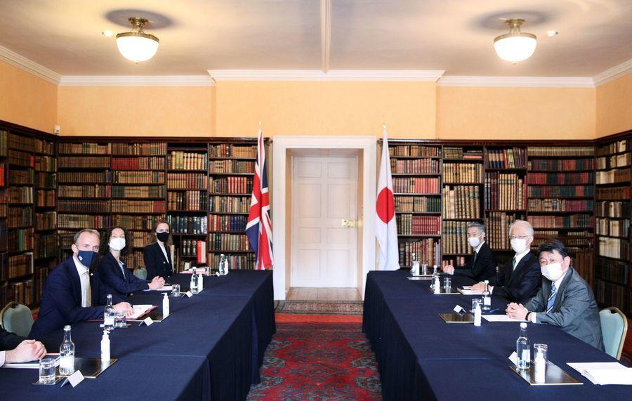 G7外長會議 英日外長舉行雙邊會談(多圖)