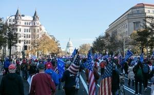 組圖:50萬人美國首都大遊行 挺特朗普(1)