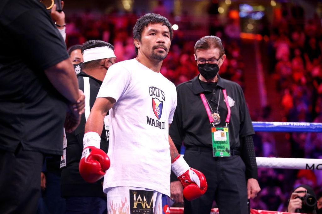 不滿現總統對中共友好,菲律賓拳王巴喬(Manny Pacquiao)9月19日表示明年將競選菲國總統。圖為巴喬資料照。(Photo by Steve Marcus/Getty Images)