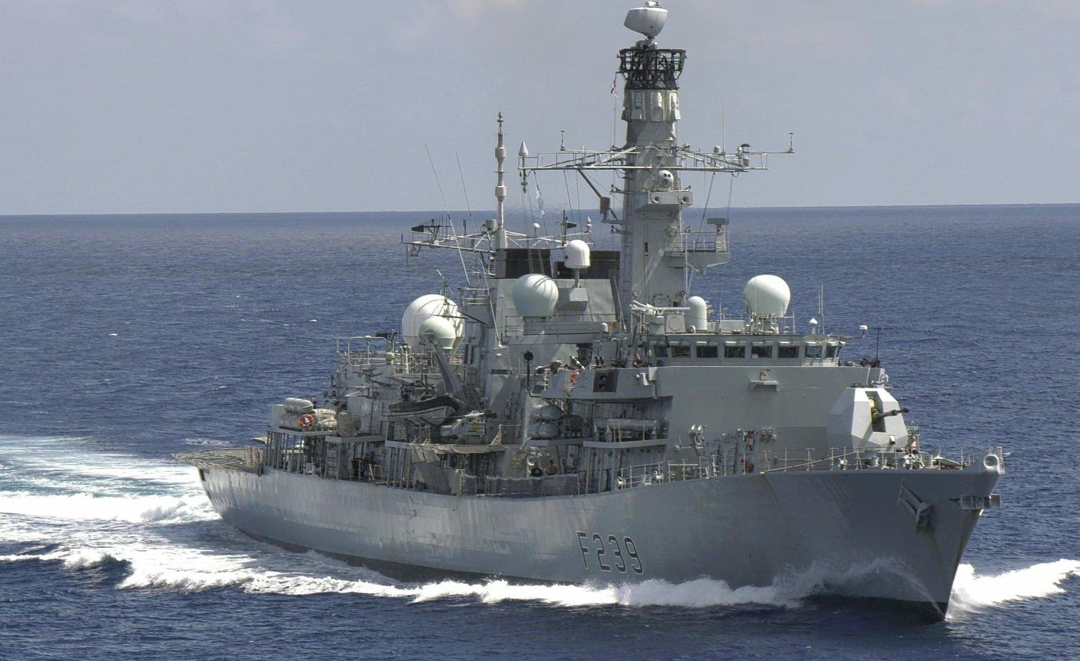 9月27日,英國海軍23型護衛艦「里士滿號」(HMS Richmond)通過台灣海峽。(取自里士滿號官方推特)
