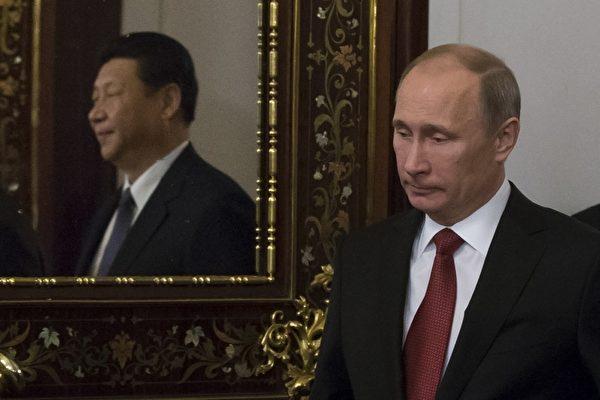 俄羅斯總統普京同中國國家主席習近平。(Getty Images)