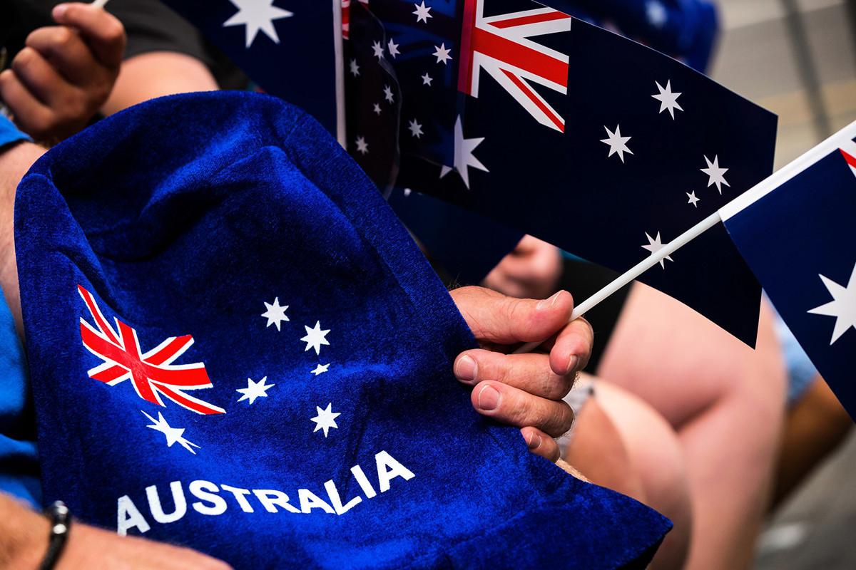 澳洲戰略政策研究所(ASPI)發佈了一份揭示中共統戰系統運作的研究報告,呼籲支持澳洲獨立中文媒體的發展。圖為澳洲國旗。(Chris Hopkins/Getty Images)