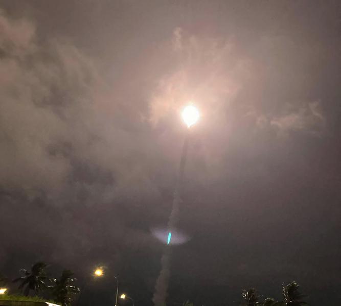 台灣國家中山科學研究院1月14、15日持續測試無限高導彈均試射成功,圖為示意照。(中央社)