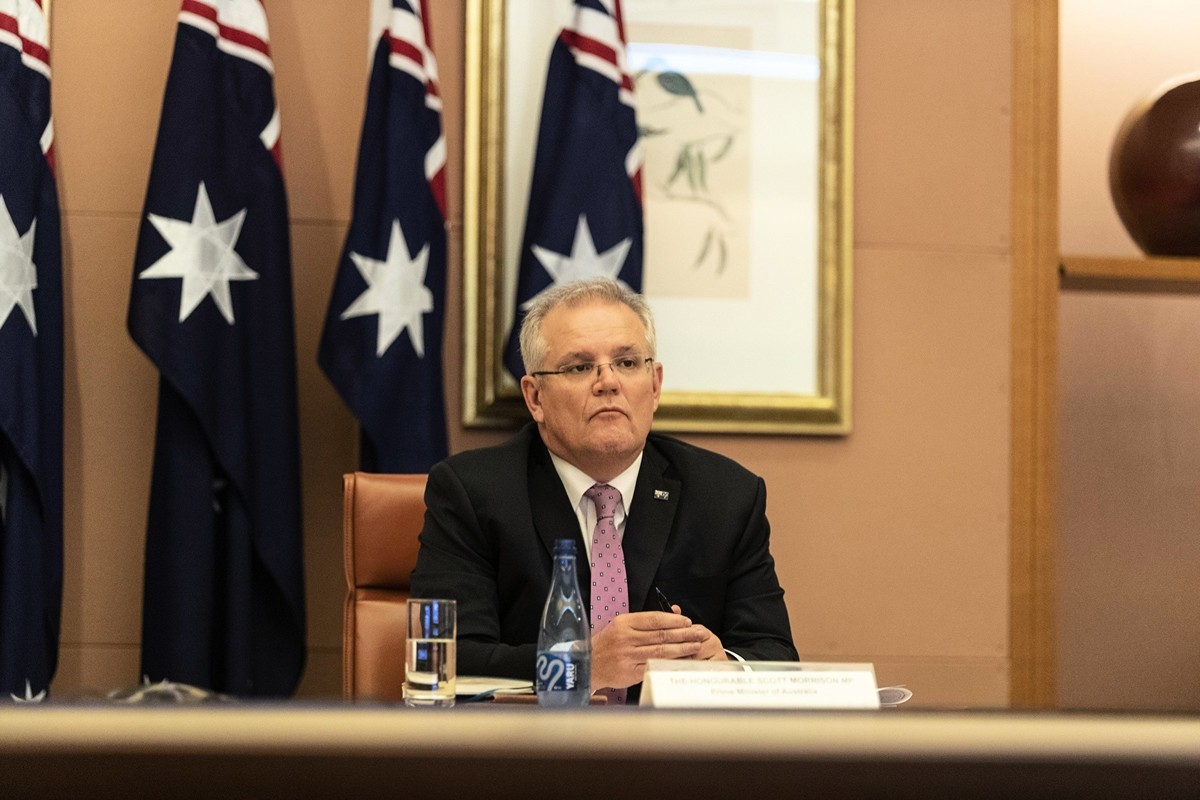澳洲總理莫里森 (Gary Ramage-Pool/Getty Images)