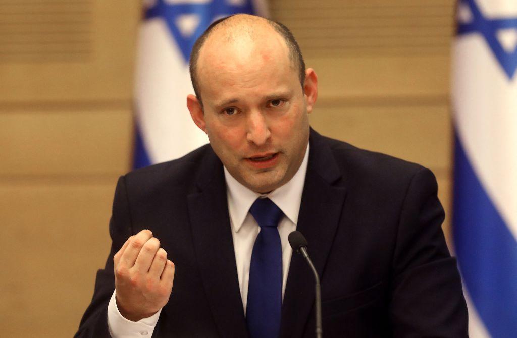 2021年6月13日,以色列總理本雅明·內塔尼亞胡(Benjamin Netanyahu)出席在耶路撒冷議會舉行的特別會議,就新政府進行投票。(EMMANUEL DUNAND/AFP via Getty Images)