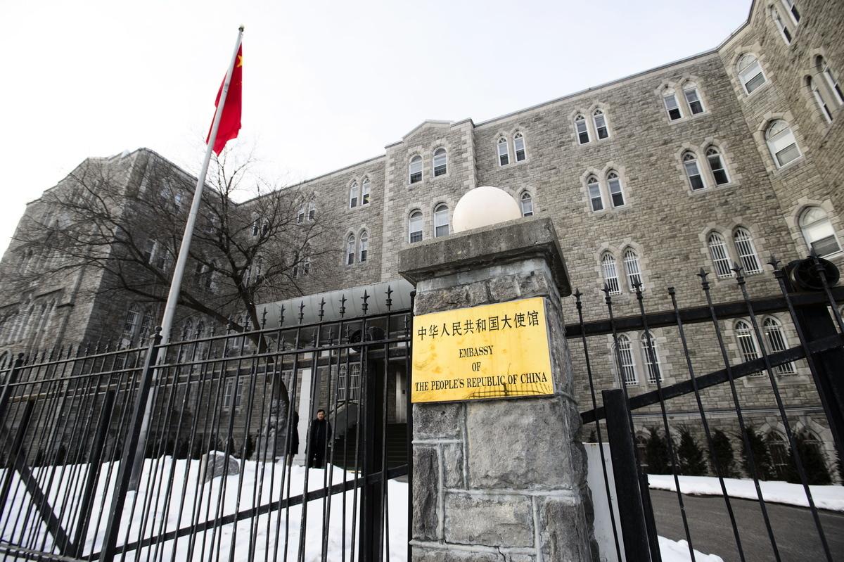 中共政府駐加拿大大使館在微信發文造謠警告中國人,說加拿大的執法部門有「頻繁的暴力行動」。(加通社)