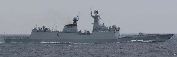 中共海軍054A「濱州號」導彈護衛艦。(日本防衛省/維基百科)