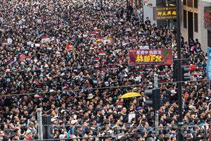 港人美國領館請願:特朗普總統 請光復香港