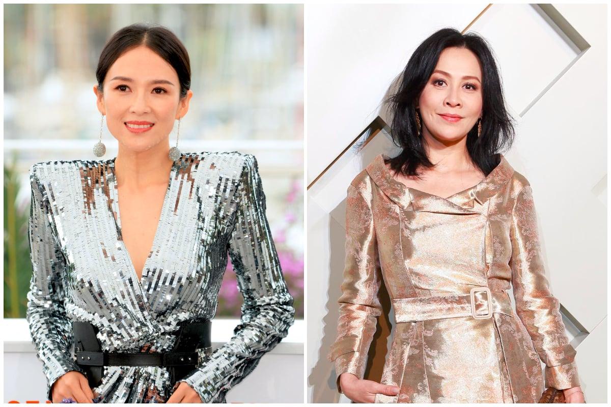 大陸影星章子怡(左)與香港女星劉嘉玲資料照。(Getty Images/大紀元合成)