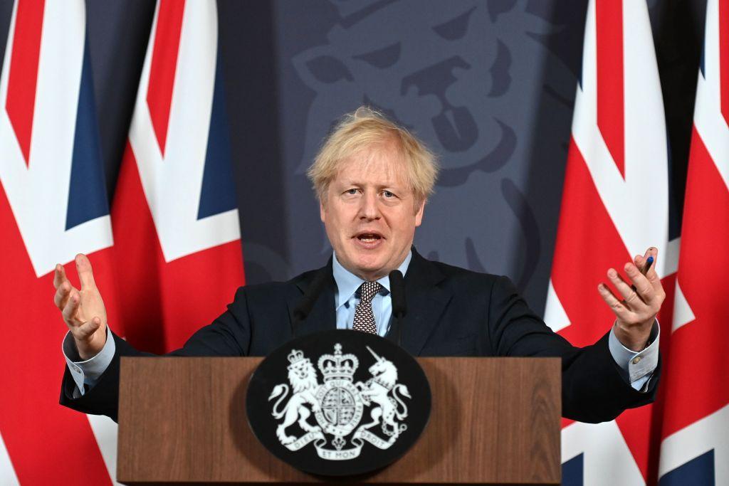 2020年12月24日,英國首相約翰遜宣佈與歐盟達成脫歐後的貿易協議。(Paul GROVER/POOL/AFP)