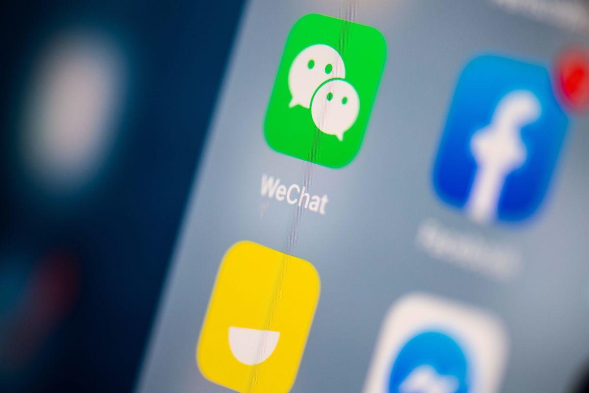 大陸互聯網巨頭騰訊公司旗下的社交軟件微信(WeChat)近日遭美國制裁。(MARTIN BUREAU/AFP via Getty Images)