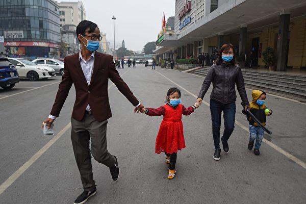 中共肺炎疫情持續升級,越南於2月1日宣布國家進入防疫狀態。(NHAC NGUYEN/AFP via Getty Images)