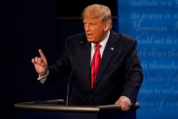 美國總統特朗普在辯論。(Gash-Pool/Getty Images)