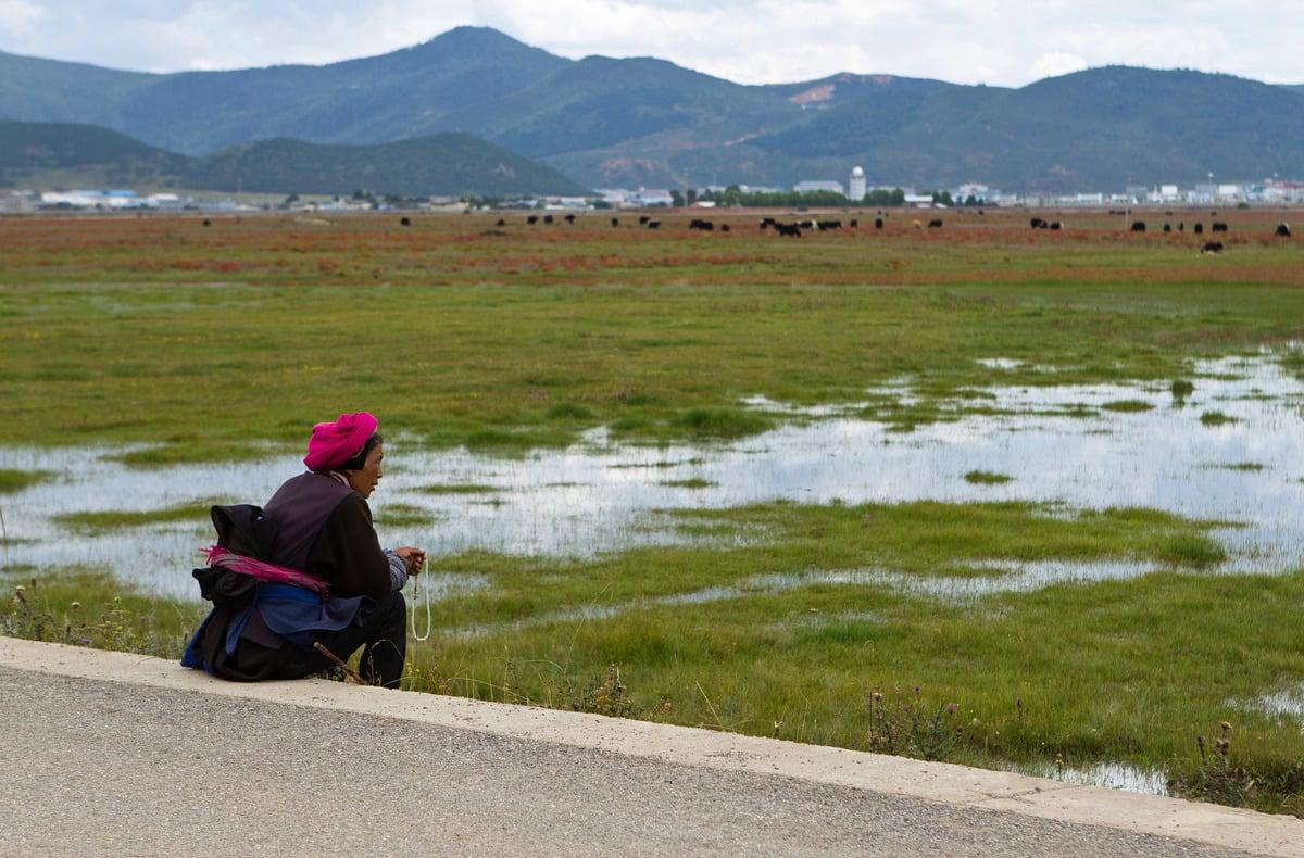 德國學者阿德里安‧岑茨(Adrian Zenz)9月22日公佈的有關中國藏族的最新調查資料顯示,藏族人正遭受著類似新疆維族人的迫害。圖為一名藏族婦女,攝於2013年。(DALE de la REY/AFP via Getty Images)