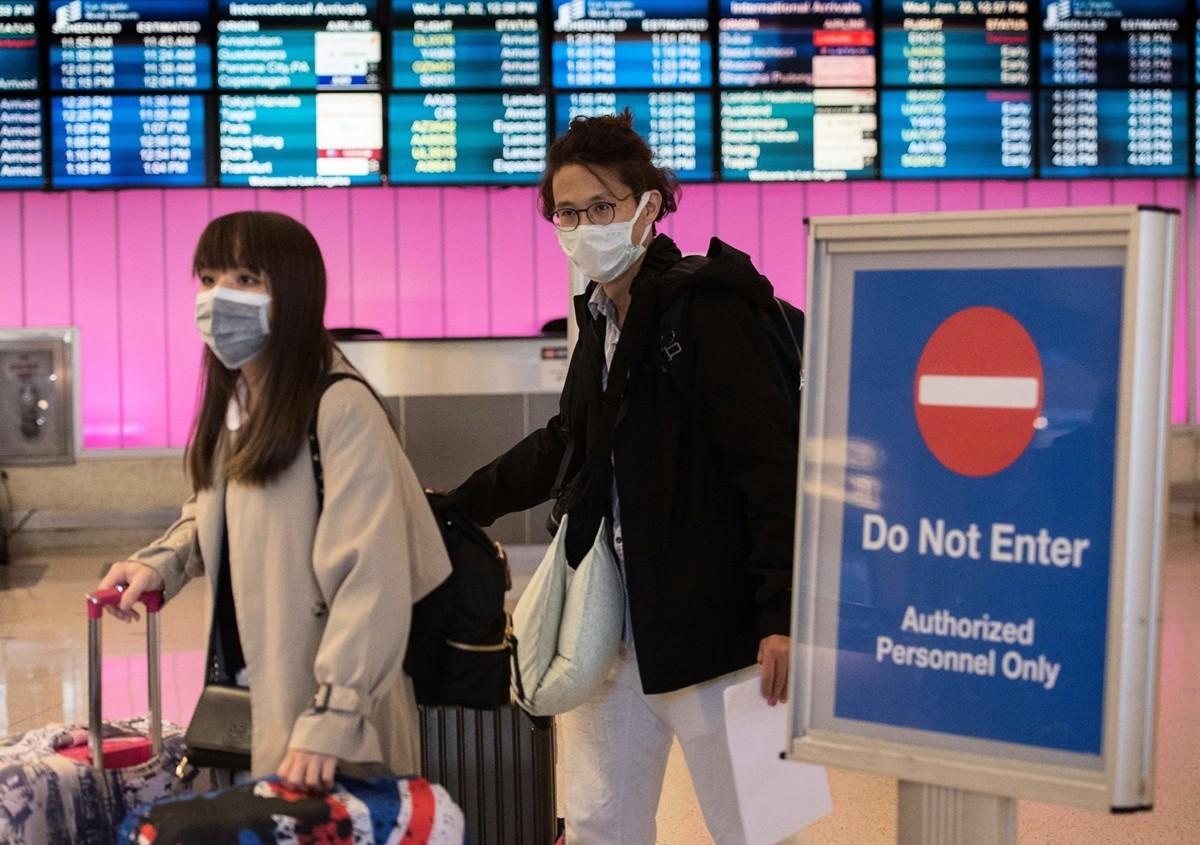 截至美東時間1月27日中午,美國至少確診五例武漢中共毒病例,疾病控制與預防中心(CDC)預計該數字將繼續攀升。圖為洛杉磯國際機場。(MARK RALSTON/AFP via Getty Images)