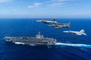 美國VINCSG航母打擊群今年首度現身南海