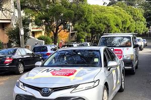 紀念六四31周年 悉尼民間團體舉行汽車遊行