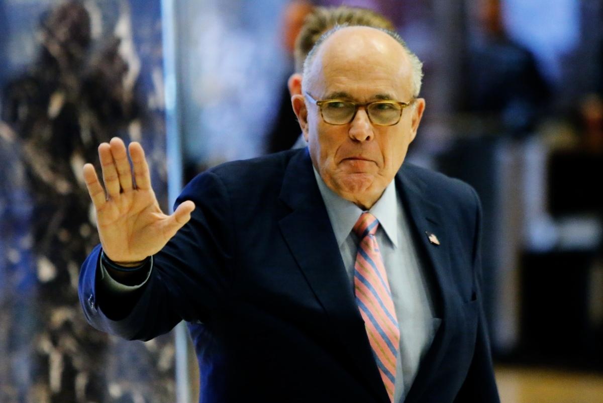 圖為美國總統特朗普的私人律師、前紐約市長朱利亞尼(Rudy Giuliani)。(EDUARDO MUNOZ ALVAREZ/AFP via Getty Images)