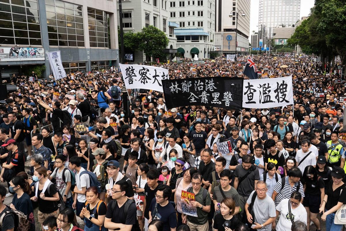 圖為香港反送中的遊行。(李逸/大紀元)