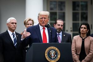 特朗普宣佈國家緊急狀態 撥款五百億美元抗疫