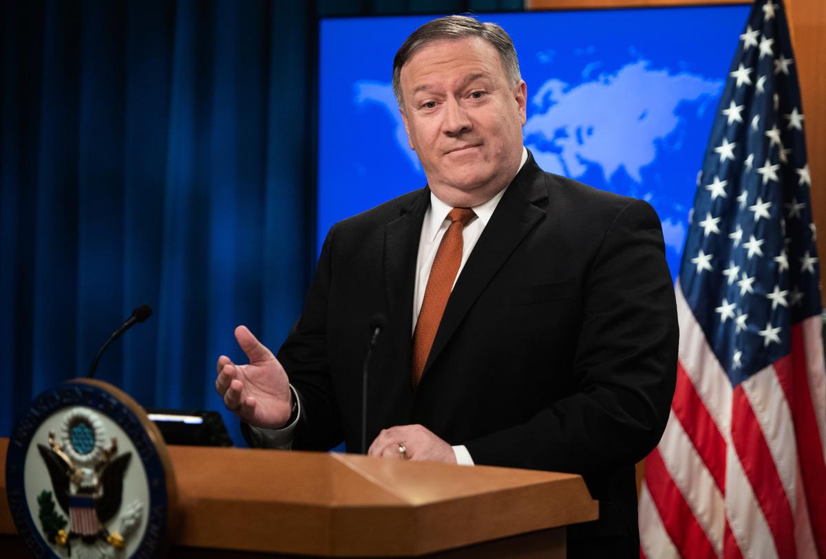 美國國務卿蓬佩奧12月14日對聯合國安理會表示,伊朗核協定2015年簽署以來,伊朗彈道導彈的研發活動持續增加。(SAUL LOEB/AFP)