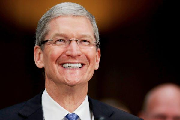 蘋果CEO庫克在特朗普勝選後曾致電道賀。(Chip Somodevilla/Getty Images)