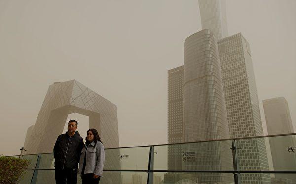 3月28日,北京再次出現沙塵暴。(NOEL CELIS/AFP via Getty Images)