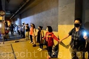 組圖:11.30九龍灣人鏈 聲援理大學生
