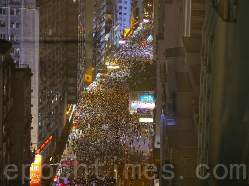2019年6月9日,香港反送中遊行人士眾多。(龐大衛/大紀元)