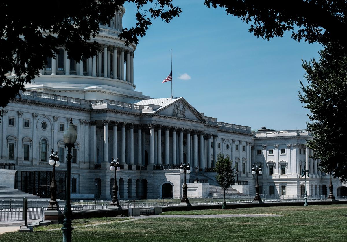 圖為2020年7月18日拍攝的美國國會大廈。(Michael A. McCoy/Getty Images)