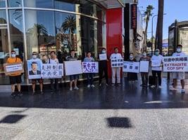洛杉磯華人:支持美國政府制裁中共黨員