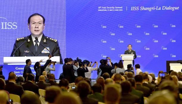 中共國防部長魏鳳和6月2日在香格里拉會上發表好戰言論。(WANG ZHAO/AFP/Getty Images)