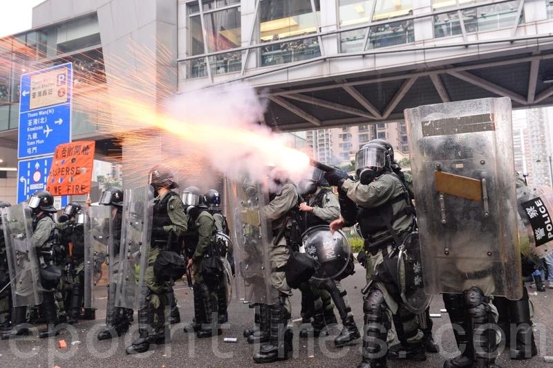 【8.25反送中】荃葵青遊行 警舉手槍疑傳出槍聲