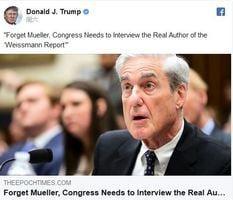 穆勒聽證後 特朗普再次轉發英文《大紀元》文章