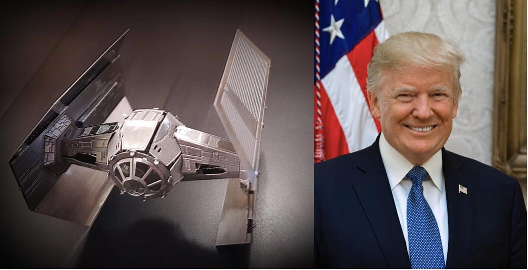 美國總統特朗普此前下令五角大樓開始籌建美國太空軍,並且將其定位為與空軍位階對等的獨立運作之第六軍種。(大紀元合成圖)