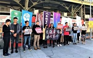「香港警暴展」全球接力 台中連儂牆全台首展
