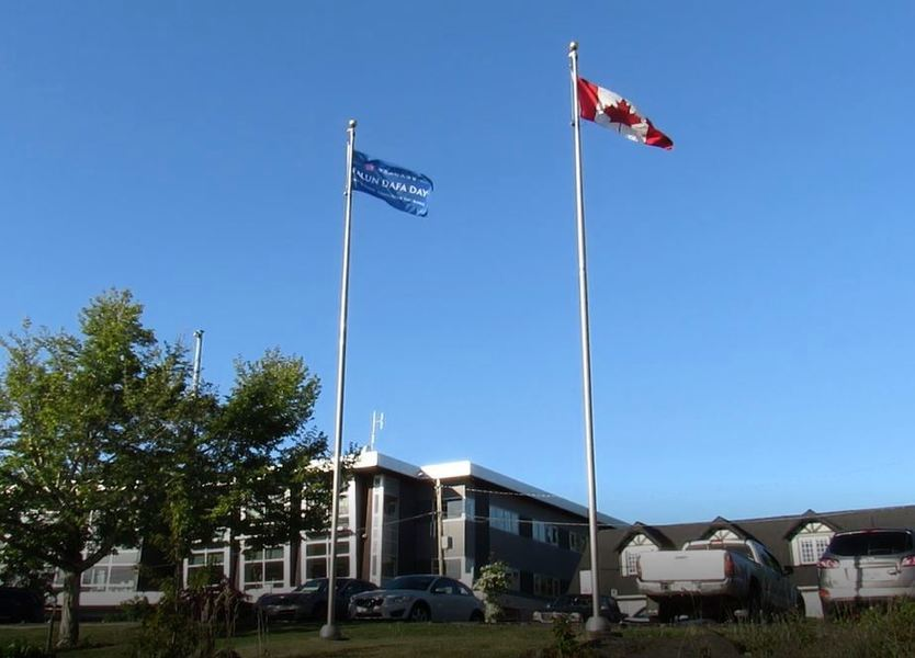 法輪大法日 加拿大卑詩省市鎮升旗同賀