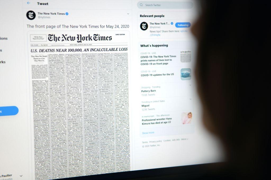 幾天前美國總統特朗普對即將到來的大選,發表深刻見解。他說:「我最大的對手不是拜登,不是民主黨人,而是腐敗的媒體。目前這個國家的腐敗媒體是前所未有的。」。(AGUSTIN PAULLIER/AFP via Getty Images)