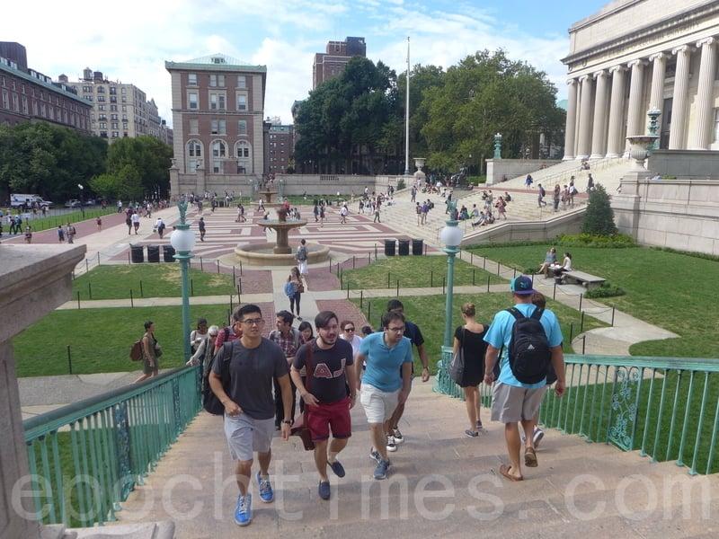 圖為在美國的中國留學生。(蔡溶/大紀元)