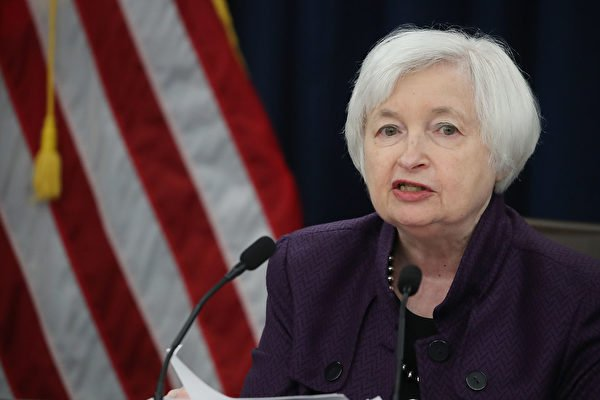 美聯儲(Fed)主席耶倫(Janet Yellen)周四表示,在4年任期2018年元月底屆滿前,她絕不會辭職。(Mark Wilson/Getty Images)