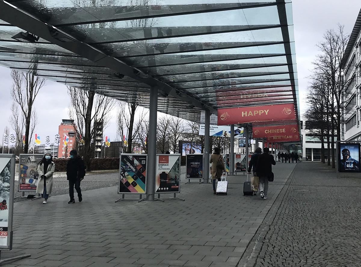 2020年慕尼黑國際體育用品展會(ISPO)在中共肺炎的陰影下舉辦。(黃芩/大紀元)