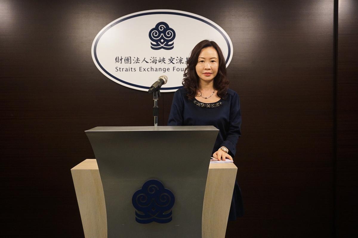 海基會發言人管安露博士26日指出,台商近一年反映錢匯不出中國大陸的情況有增加。(李怡欣/大紀元)